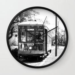 New Orleans St. Charles Streetcar Wall Clock