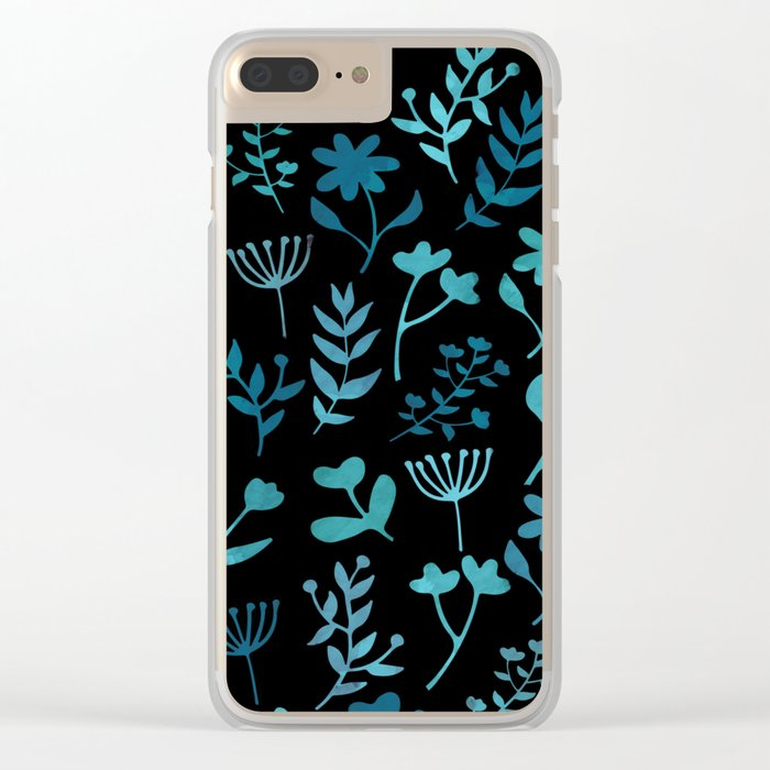 Lovely Pattern XIV Clear iPhone Case