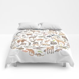 100 animals Comforters