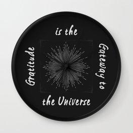 Universal Gratitude DK Wall Clock