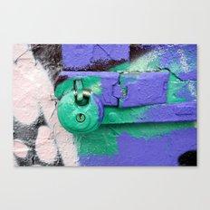 Purple and green lock Canvas Print