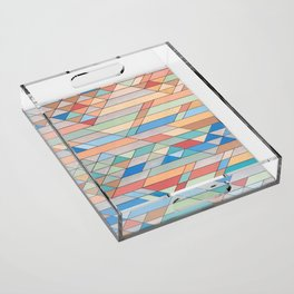 Triangle Pattern no.2 Colorful Acrylic Tray