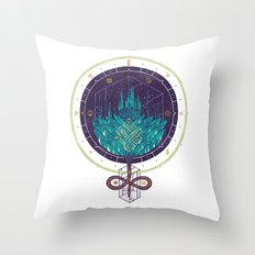 Fading Dahlia Throw Pillow