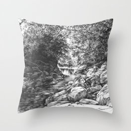 Sine Wiry Throw Pillow