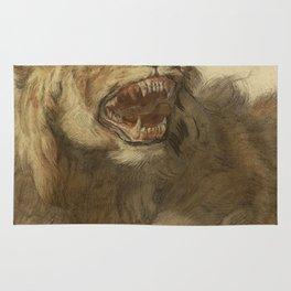 Cornelis Saftleven - A Lion Snarling Rug