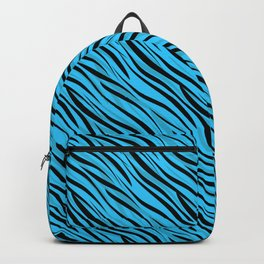 Abstract Black-blue textile Backpack