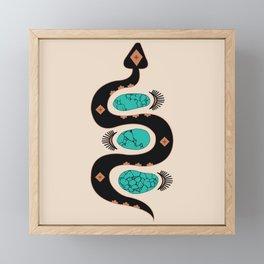 Southwestern Slither in Black Framed Mini Art Print