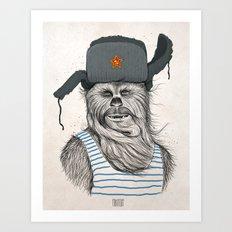 Russian Chewbacca Art Print