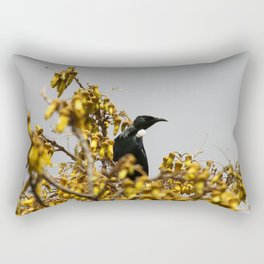 New Zealand Tui bird Rectangular Pillow