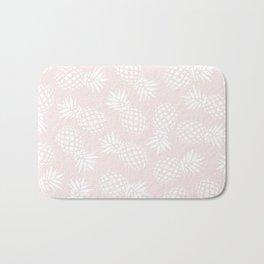 Pineapple pattern on pink 022 Bath Mat