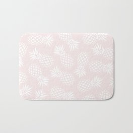 Pineapple pattern on pink 022 Bath Mat