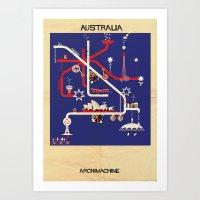 australia Art Prints featuring Australia by federico babina