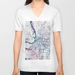 Memphis map Unisex V-Neck