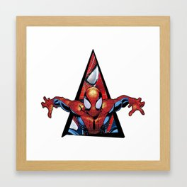 Youtriangle ∆ SpiderMann Framed Art Print