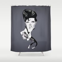 elvis Shower Curtains featuring Elvis by Bady Church