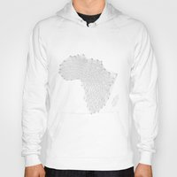vector Hoodies featuring Vector Africa by Resistenza
