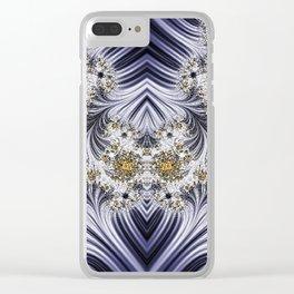 Step Back Fractal Pattern 2 Clear iPhone Case