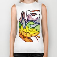 waves Biker Tanks featuring Waves by Aaron Carberry