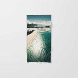 whitsunday island aerial Hand & Bath Towel