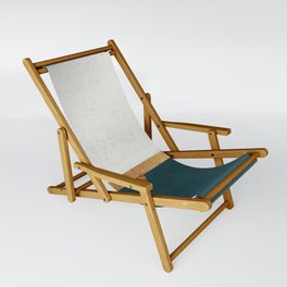 Deep Green, Gold and White Color Block Sling Chair