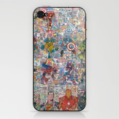 Vintage Comic Superheroes Galore (Limited Time) iPhone & iPod Skin