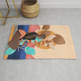 Chilling by the lake #art print#society6 Rug