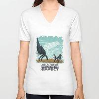 mass effect V-neck T-shirts featuring Mass Effect - Sass Effect by calicoJill