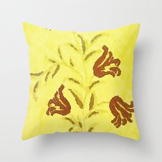 Flowers In Sketch Throw Pillow