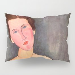 """Amedeo Modigliani """"Portrait of Madame Georges Van Muyden.jpg Pillow Sham"""