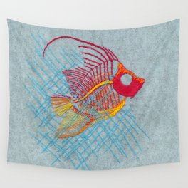 Stitches: Narrow Escape Wall Tapestry