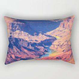 mountain and desert at Grand Canyon national park, USA Rectangular Pillow