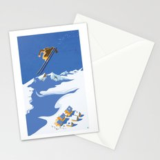 Retro Sky Skier Stationery Cards