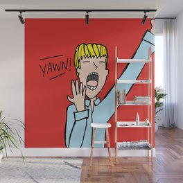 Yawning man Wall Mural