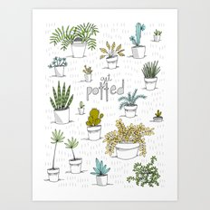 Get Potted Art Print