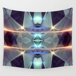 Abstract angular glow Wall Tapestry
