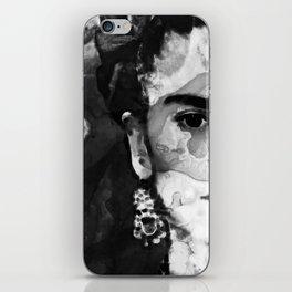 Black And White Frida Kahlo by Sharon Cummings iPhone Skin