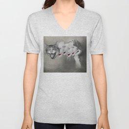 my catty side Unisex V-Neck