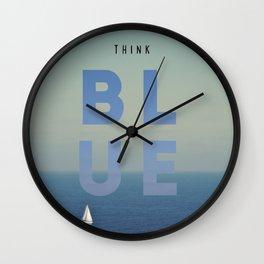 THINK BLUE Wall Clock