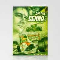 senna Stationery Cards featuring Ayrton Senna Tribute by TheToonPlanet
