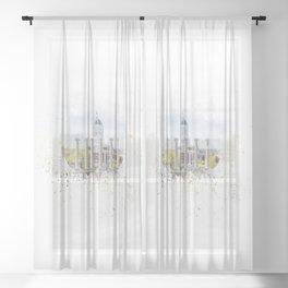 Mizzou Columns Splash Sheer Curtain
