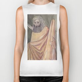 Reproduction of a Section of The Trial By Fire Fresco by Giotto Biker Tank