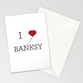 I heart Banksy Stationery Cards
