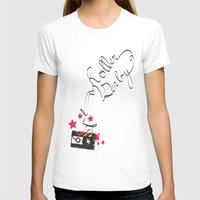 roller derby T-shirts featuring Roller Derby Cassette Tape by LucyDynamite