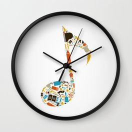 Art the note Wall Clock