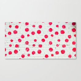 Many red dots do not exist. Canvas Print