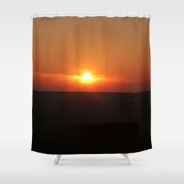 Sunset in Wiltshire England Shower Curtain