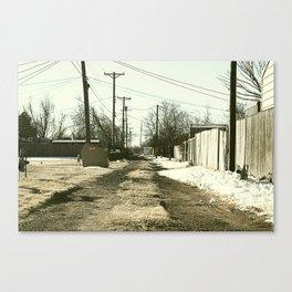 Suburban Back Alley Canvas Print