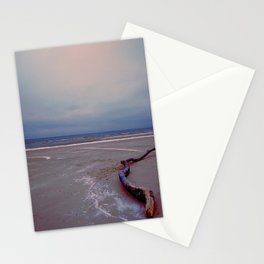 Logging by the sea Stationery Cards