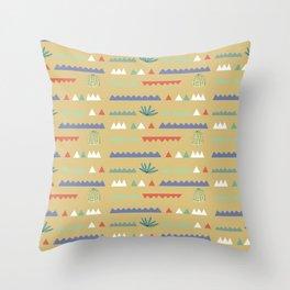 Geometrical Cacti Throw Pillow