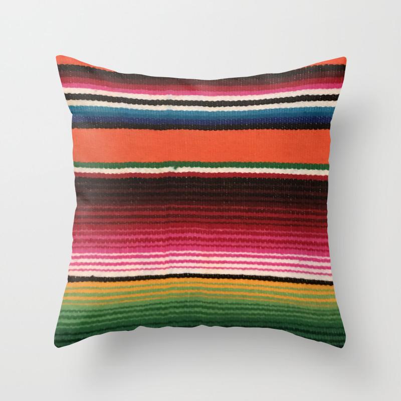 Beautiful Mexican Serape Throw Pillow By Tsalaz1 Society6